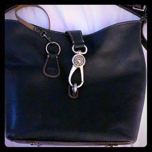 Dooney & Bourke Leather Logo Lock Hobo w/ keychain